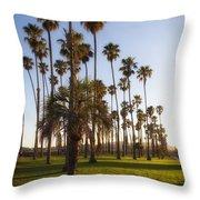Early Morning In Santa Barbara Throw Pillow