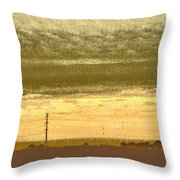 Early Morning In The Heartland Throw Pillow