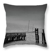 Early Morning Fog In The San Francisco Bay Throw Pillow