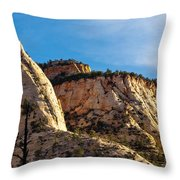 Early Morning In Zion Canyon Throw Pillow