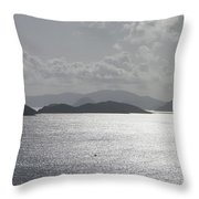 Early Morning Island View Throw Pillow