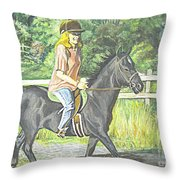 Early Morning Jaunt Throw Pillow