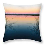 Early Morning Lake Throw Pillow