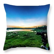 Early Morning Light Capture Throw Pillow
