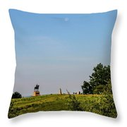 Early Morning Moon Throw Pillow