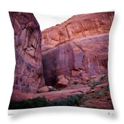 Early Morning Mystery Valley Colorado Plateau Arizona 04 Text Throw Pillow