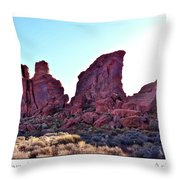 Early Morning Mystery Valley Colorado Plateau Arizona 05 Text Throw Pillow