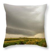 Early Morning Nebraska Storm Chasing 016 Throw Pillow