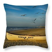 Early Morning Ocean City Nj Throw Pillow