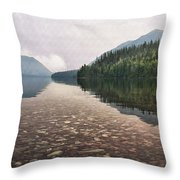 Early Morning On Lake Mcdonald II Throw Pillow