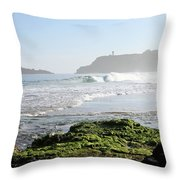 Early Morning On Secret Beach Throw Pillow