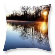 Early Morning On The Canal Throw Pillow