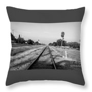 Early Morning On The Rail  Throw Pillow