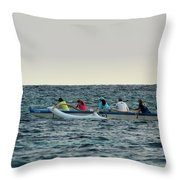 Early Morning Outing Throw Pillow