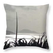 Early Morning Over Sugar Beach Throw Pillow