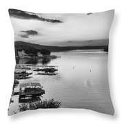 Early Morning Ozarks Throw Pillow