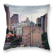 Early Morning Panorama Of Downtown San Antonio Skyline And Architecture - Bexar County Texas Throw Pillow