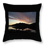 Early Morning Red Sky Throw Pillow