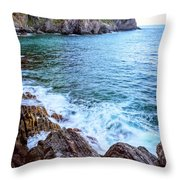 Early Morning Riomaggiore Cinque Terre Italy Throw Pillow