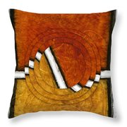 Early Morning Rounds Abstract Throw Pillow
