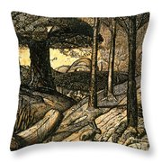 Early Morning Throw Pillow by Samuel Palmer