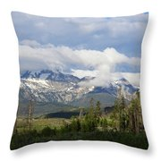 Early Morning Sawtooths Throw Pillow