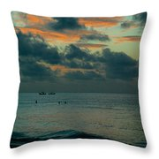 Early Morning Sea Throw Pillow