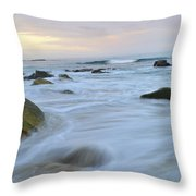 Early Morning Seas Throw Pillow