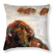 Early Morning Snow Throw Pillow
