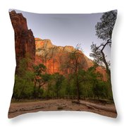 Early Morning Solitude At Zion  Throw Pillow