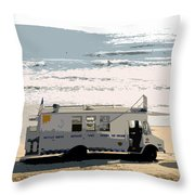 Early Morning Surf Throw Pillow