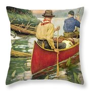 Early Morning Thrill Throw Pillow by JQ Licensing