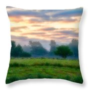 Early Morning Warmth Throw Pillow