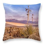 Early Morning Yucca - White Sands - New Mexico Throw Pillow