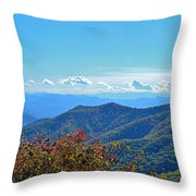 Early Mountain Autumn Throw Pillow
