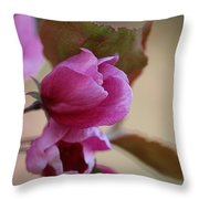 Early Openings Throw Pillow