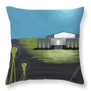 Early Painting Father And Son Aliens Throw Pillow