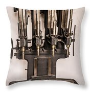 Early Press From Car Manufacturing 2 Throw Pillow