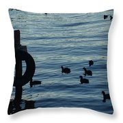 Early Risers At The Base Of The Volcano In Guatemala  Throw Pillow