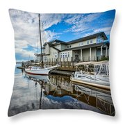 Early Sailing - Color Throw Pillow
