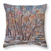 Early Snow. Throw Pillow