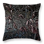 Early Spring Abstract Throw Pillow