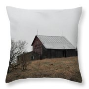 Early Spring Farm Throw Pillow