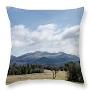 Early Spring In Lake Placid Throw Pillow