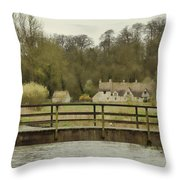 Early Spring In The Counties Throw Pillow