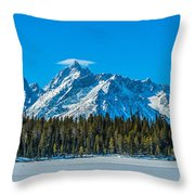 Early Spring In The Tetons Throw Pillow
