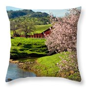 Early Spring In The Valley Throw Pillow