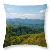Early Spring On The Blue Ridge Parkway Throw Pillow