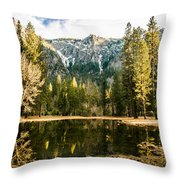 Early Spring Reflections Throw Pillow