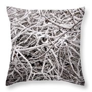 Early Spring Snow Throw Pillow